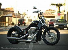 vlx bobber Old School Motorcycles, Vintage Motorcycles, Custom Motorcycles, Custom Bikes, Honda Shadow Bobber, Honda Bobber, Bobber Bikes, Motorcycle Dirt Bike, Motorcycle Design