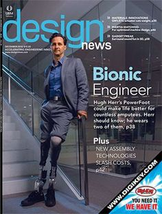 Professor Hugh Herr and his high tech prosthetic limbs.