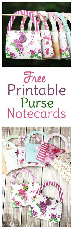 Fun and easy cardmaking for beginners! Just print, cut, fold and glue!