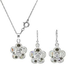 Sterling Silver Crystals and 2.65 CTW Cubic Zirconias Ladies Jewelry Set. Length 30 in. Total Item weight 6.6 g. VividGemz. $35.00. Save 78% Off!