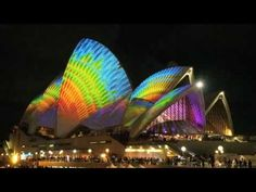 "Vivid live - Lighting the Sails... The Spinifex Group: As part of Sydney's ""Vivid"" festival, the Opera House will be home to a crazy projected light-show for the next several weeks. And it's awesome."