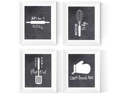 Kitchen Wall Art Printables 6 Set Kitchen Art Bright | Etsy Kitchen Prints, Kitchen Wall Art, Printing Services, Online Printing, The Only Exception, Scandinavian Nursery, Dachshund Art, Copy Print, Dinosaur Art