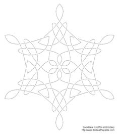 Snowflake Knot Embroidery Pattern