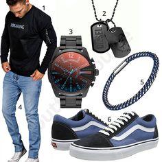 Herrenoutfit mit Diesel Chronograph, Dogmark und Armband #pullover #jeans #vans #diesel #outfit #style #herrenmode #männermode #fashion #menswear #herren #männer #mode #menstyle #mensfashion #menswear #inspiration #cloth #ootd #herrenoutfit #männeroutfit #mann #gentlemen