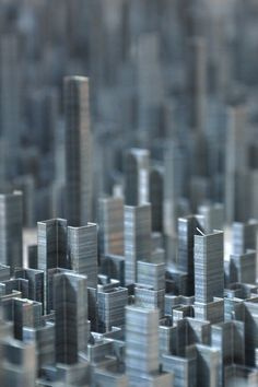 Artful staples form a cityscape.