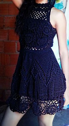 Hello see the charm of this crochet dress with simplicity and delicacy the graphic and video lesson at the link below for free to you – Artofit Crochet Blouse, Knit Dress, Crochet Bikini, Lace Dress, Freeform Crochet, Crochet Lace, Crochet Summer Dresses, Diy Crafts Crochet, Trendy Dresses