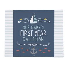 Create a keepsake by recording your child& first 12 months of milestones in this precious Carter's Baby& First Year Calendar. A darling Under the Sea theme gives it adorable style. Included stickers make it easy to mark and remember special events. Baby Nursery Furniture, Nursery Room Decor, Baby Registry, Wedding Gift Registry, Year Calander, Our Baby, Baby Boy, Baby Shower Gifts, Baby Gifts