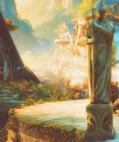 Imladris (New Line Cinema: The Hobbit. Legolas, Gandalf, Tauriel, Jrr Tolkien, Sci Fi Fantasy, Fantasy World, Medieval, Fantasy Landscape, Middle Earth