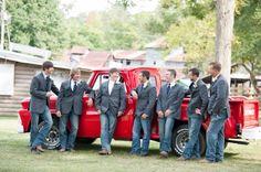 Red Pickup Truck At Wedding from rusticweddingchic.com
