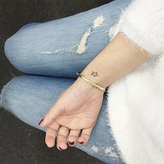 Simply Elegant Wrist Tattoo // 13 Tiny Star Tattoo Ideas That Are Truly Stellar