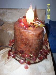 Toilet paper candle--one of my crafts