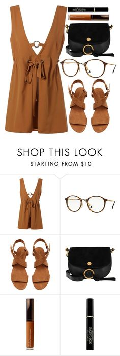 """Nirvana"" by smartbuyglasses ❤ liked on Polyvore featuring Ray-Ban, Chloé, Becca, Max Factor, black and brown"