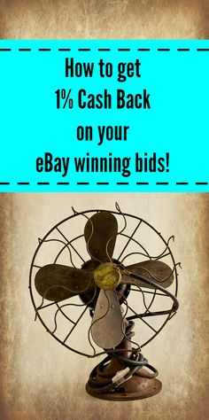 How to get 1% Cash Back on your eBay winning bids!  #cashbackwebsites