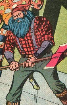 17 Awesome Plaid-Wearing Lumberjack Illustrations ~ Plaidurday