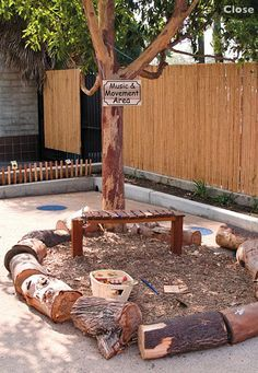 Make it much bigger! Reggio Emilia outdoor environment, music area from lakeshore learning preschool outdoor space