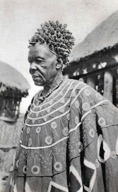 Africa | Mbo, king of Bali.  Cameroon.  ca. early 20th century  | ©Holly W. Ross Postcard Collection