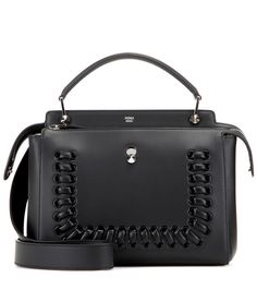 Fendi - DotCom leather shoulder bag - Fendi's 'DotCom' is our trusty daytime companion. As stylish as it is practical, we love the smooth, streamlined design of the leather style that comes with a lace-up style trim. The design features two compartments to cradle all your essentials and more. Out-of-office lunch date? The detachable zipped pouch works perfectly as a chic clutch. seen @ www.mytheresa.com