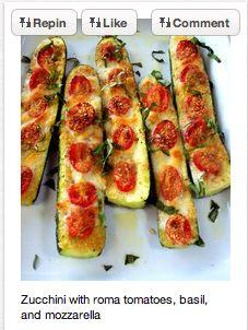 Zucchini/Tomato Appetizer. NO BREAD