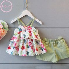 Shop Floryday for affordable Clothing Sets.Floryday offers latest Clothing Sets collections to fit every occasion. Kids Dress Wear, Dresses Kids Girl, Kids Outfits Girls, Girl Outfits, Baby Dress Design, Baby Girl Dress Patterns, Baby Girl Fashion, Kids Fashion, Baby Frocks Designs