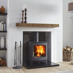 The Dik Geurts Ivar 5 Low is a contemporary and versatile stove. It has a classi…, – Freestanding fireplace wood burning Gas Stove Fireplace, Wood Burner Fireplace, Fireplace Hearth, Home Fireplace, Modern Fireplace, Living Room With Fireplace, Fireplace Design, Home Living Room, Tiles For Fireplace