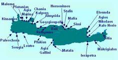 Google Map of the Island of Crete
