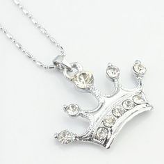 Le noble Silver Crown collier de diamants