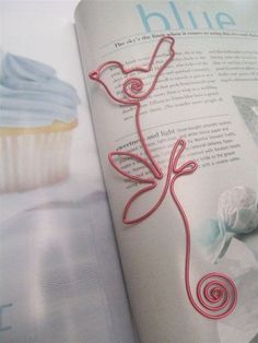 WIRE ART BOOKMARK - BIRD - Great as Gifts or Favors: