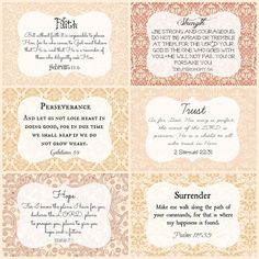 Printable Scripture Cards, Wall Art