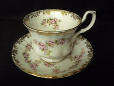 Vintage 60s 70s Royal Albert Footed Cup & Saucer by DJVboutique