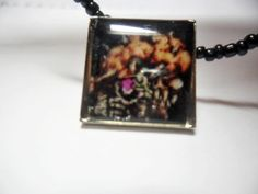 Video game necklace Super Metroid Mother Brain by ReturnersHideout, $12.50