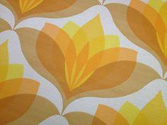 Vintage Original 60's Wallpaper 60s Wallpaper, Spiritual Decor, 70s Decor, Geometric Shapes, Flower Designs, Flower Power, Pattern Design, Print Patterns, Currently Working