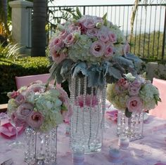 Avant-Garde Classic Hollywood Glam Modern Romantic Shabby Chic Ivory Multicolor Pink White Centerpiece Décor Fall Spring Summer Winter Wedding Flowers Photos & Pictures - WeddingWire.com
