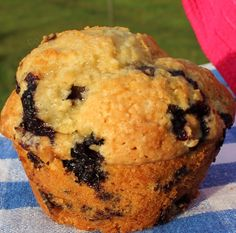 Blueberry Muffins with Flax meal and coconut oil