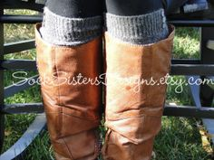 Knee High Boot Socks with Buttons by SockSistersDesigns on Etsy, (perfect)