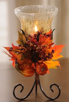 Brighten up with harvest leaves fall arrangements, fall diy, herbst Harvest Decorations, Thanksgiving Decorations, Halloween Decorations, Candle Decorations, Diy Thanksgiving, Autumn Centerpieces, Decoration Christmas, Holiday Decor, Christmas Ideas