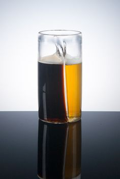 This dual beer glass is revolutionary...Because sometimes we want two kinds of beer. And sometimes you want to share. Sometimes.