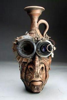 Steampunk vase