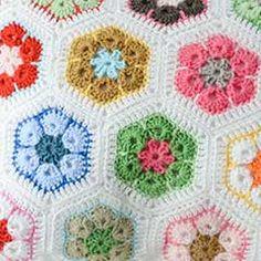 African Flower Written Crochet Pattern : Crochet Plus - African Flower motif on Pinterest African ...