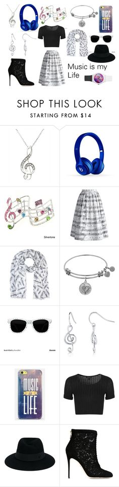 """""""Music is my Life"""" by maddog3861 ❤ liked on Polyvore featuring Beats by Dr. Dre, Chicwish, BERRICLE, Casetify, Topshop, Maison Michel and Dolce&Gabbana"""