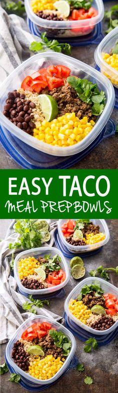 Salsa Verde Taco Meal Prep Bowls