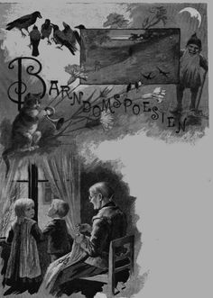 """Ill. av Jenny Nyström till """"Barndomspoesin"""""""