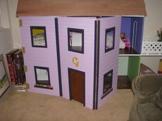 "American Girl Dollhouse - 18"" Doll Sized Plans For Dollhouse"
