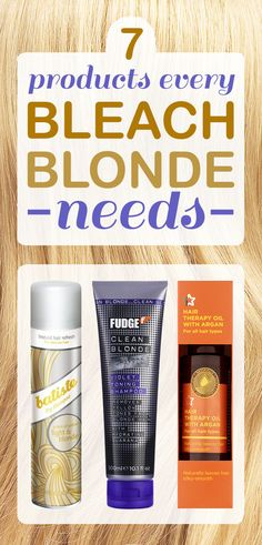7 Products Every Bleach Blonde Needs