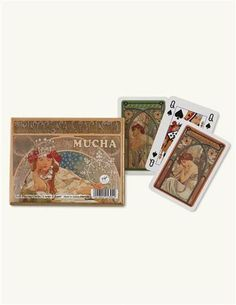 Mucha Art Nouveau (French Belles) Playing Cards $17