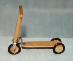 A moderately difficult (for me) tutorial for a child's traditional scooter - always wanted one of these when I was growing up so I definitely need to make one for my dollhouse | Source: