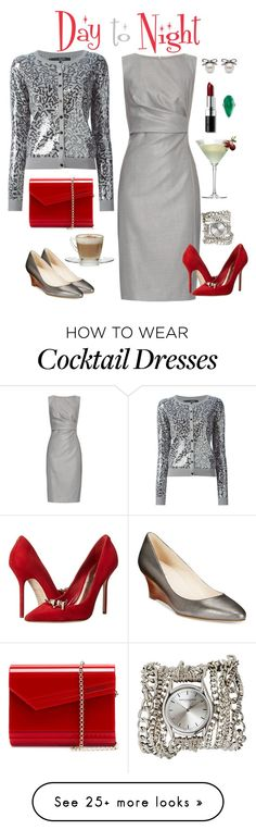 """""""Holiday Day to Night"""" by julie-price-thiede on Polyvore featuring MaxMara, Sibling, Dsquared2, Jimmy Choo, Cole Haan, Bobbi Brown Cosmetics, Sara Designs, Ross-Simons and Margarita"""