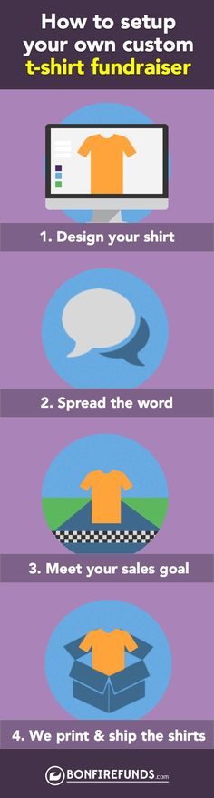 Raise awareness for your cause through T-Shirts and raise funds at the same time.