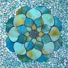 Kasia Mosaics - Stained Glass Mosaic Art, Process and Education by Kasia Polkowska ~ Alamosa, Colorado Mosaic Projects, Stained Glass Projects, Stained Glass Patterns, Mosaic Patterns, Stained Glass Art, Blue Mosaic, Mosaic Wall, Mosaic Glass, Mosaic Tiles
