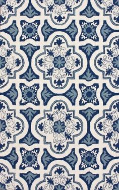 Rugs USA Hacienda Atalla Outdoor Light Blue Rug.  look how close this is to the tiles in my favorite patio pic.  It looks like tiles.
