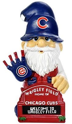 World Series Chicago Cubs Gnome Wrigley Field Sign Sports Man Cave Gift #ForeverCollectibles #ChicagoCubs